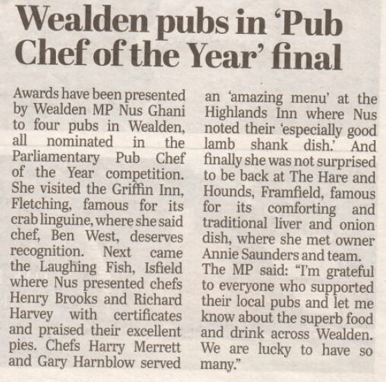 pub chef of the year