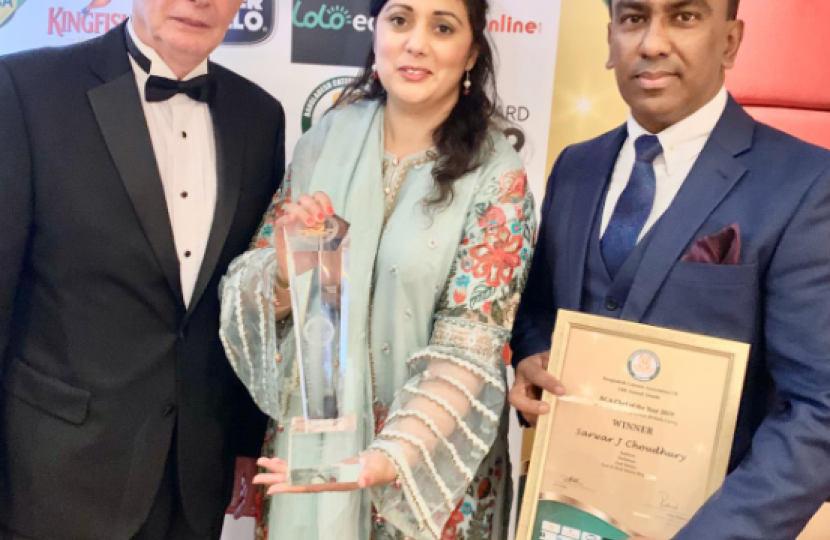 "Hailsham's Rajdoot Curry House awarded ""Chef of the Year"""