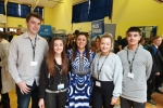 Nus Ghani with local students