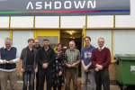 Nus with Engineers and Staff at Ashdown AV