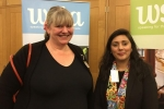 Nus Ghani with Jonica Fox of Fox&Fox vineyards.