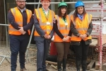 L-R: Nick Kehoe, Site Manager (Westridge Construction); Rob Woolley, CEO Hospice In The Weald; Holly Cowen, Head Nurse for the Cottage Hospice; and, Nusrat Ghani MP.