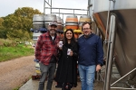 Ghani visits Gun Brewery near Chiddingly