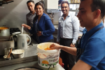 Nus Ghani in the Kitchen of Rajdoot Curry House