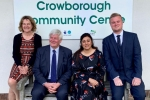 Nus Ghani with Cllr Bob Standley and Openreach Representatives.